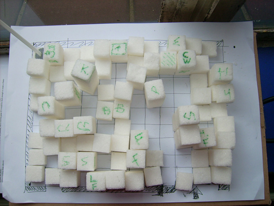 Sugar cube model